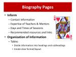 biography pages
