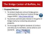 the bridge center of buffalo inc