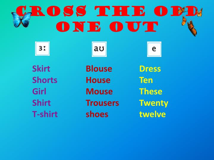 Cross the odd one out