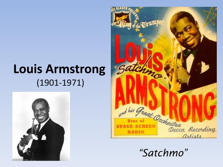 louis armstrong 1901 1971 n.