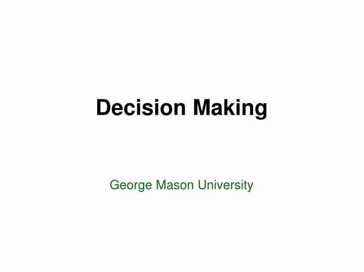decision making n.