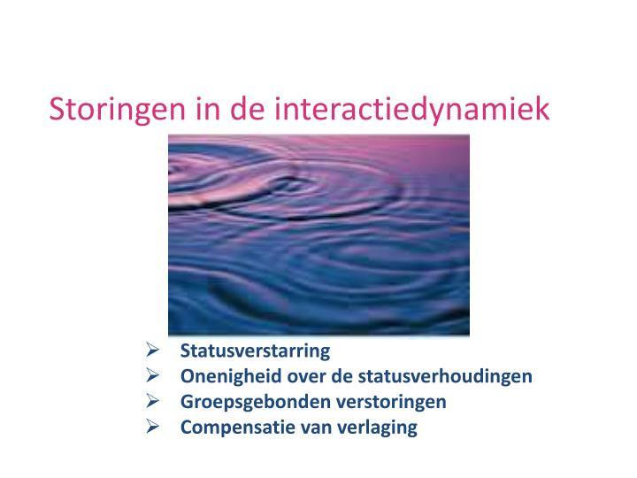Storingen in de interactiedynamiek
