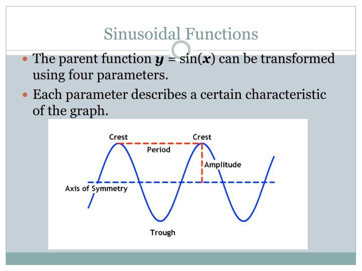 Sinusoidal functions1
