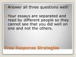 free response strategies