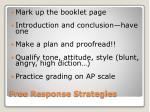 free response strategies1
