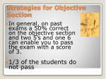 strategies for objective section1