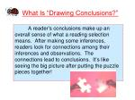what is drawing conclusions