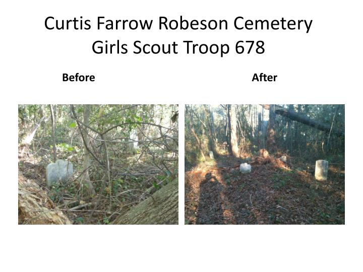 Curtis farrow robeson cemetery girls scout troop 678