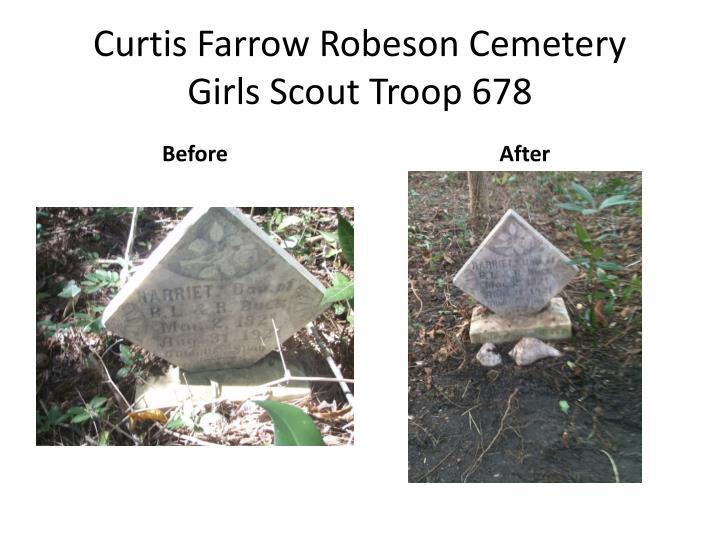 Curtis farrow robeson cemetery girls scout troop 6782