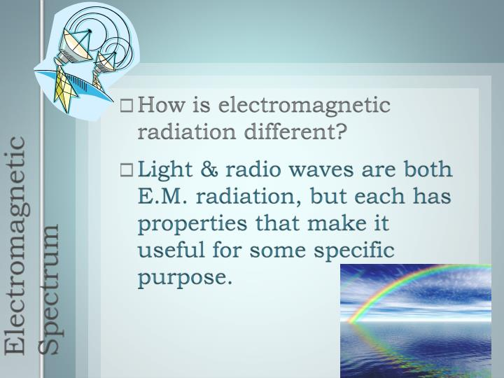 How is electromagnetic radiation different?