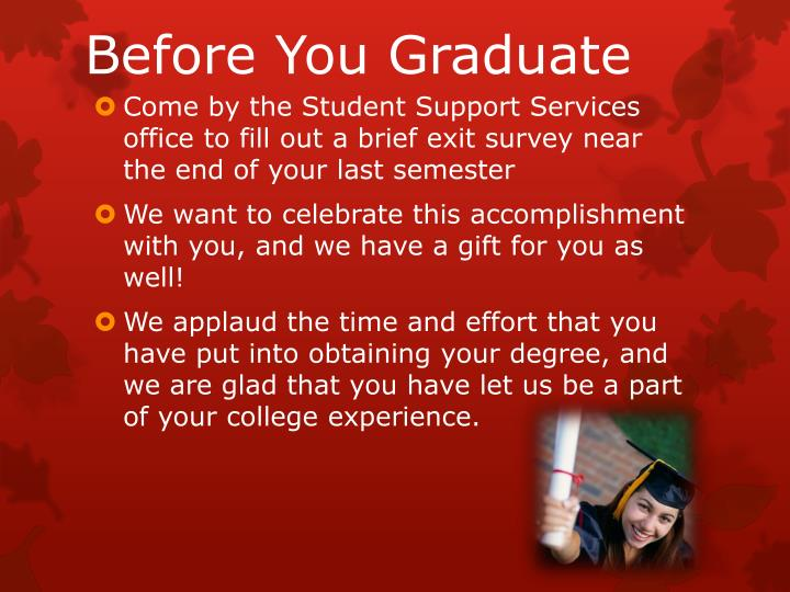 Before You Graduate