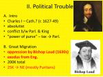 ii political troubles