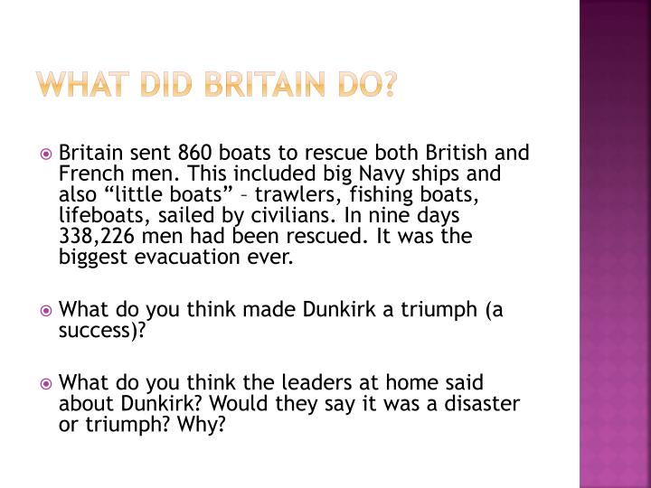 What did Britain do?