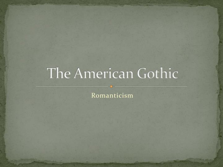 the american gothic n.