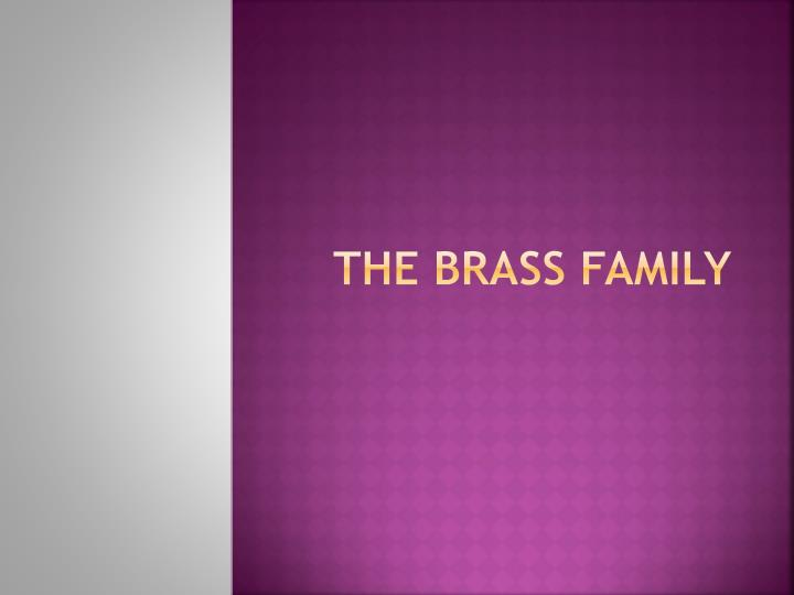 the brass family n.
