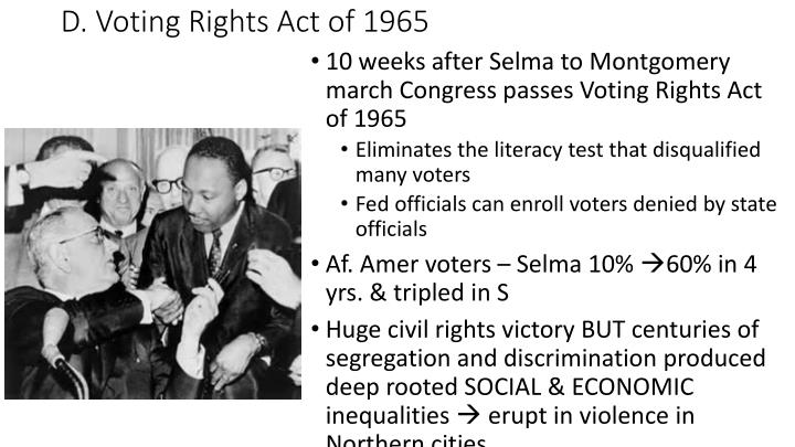 D. Voting Rights Act of 1965