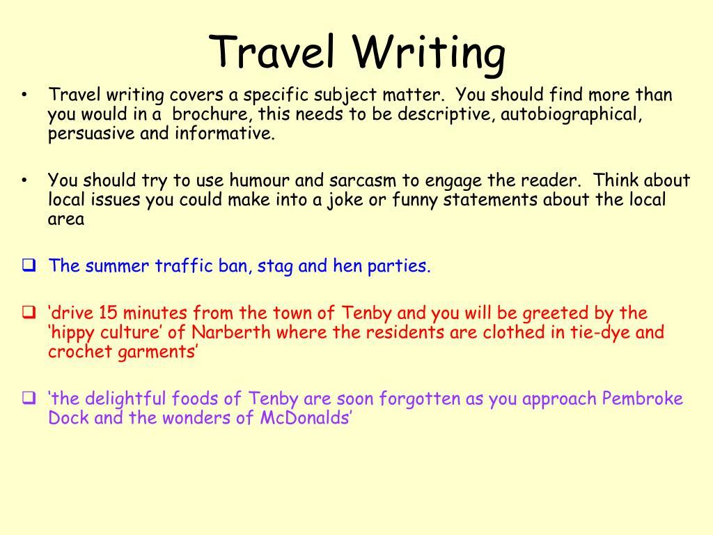 Essay travel