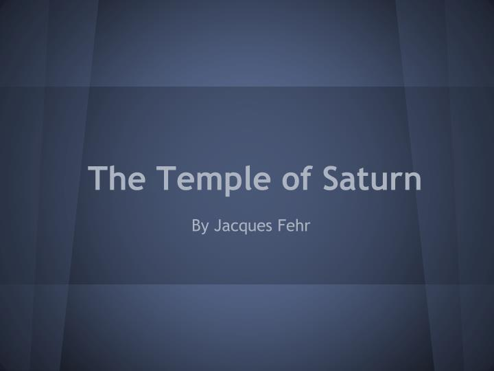the temple of saturn n.