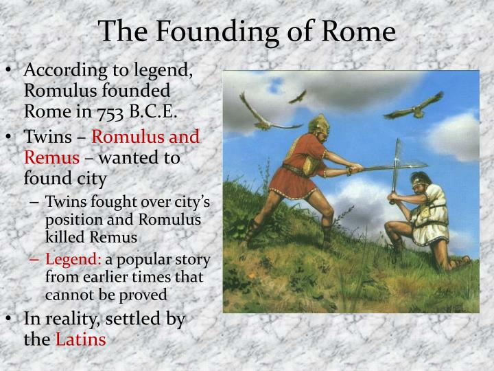 ppt the founding of rome and its republic powerpoint presentation