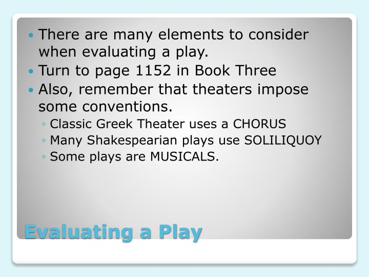 Evaluating a play