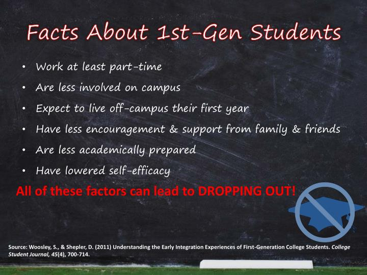 Facts about 1st gen students