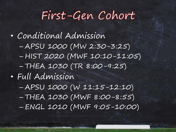 First-Gen Cohort