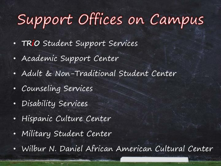 Support Offices on Campus