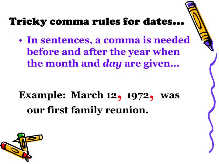 comma after the year in a sentence
