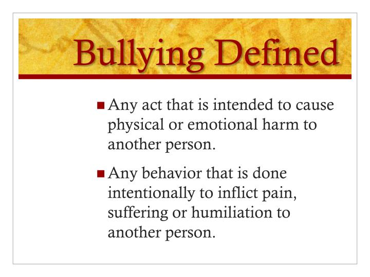 related literature about bullying Bullying has been studied for many years in the us and other countries this article is a review of the literature focusing on the laws (state and federal) pertaining to bullying and the long-term effects of being a bully in addition, the article provides an overview of the five different types.