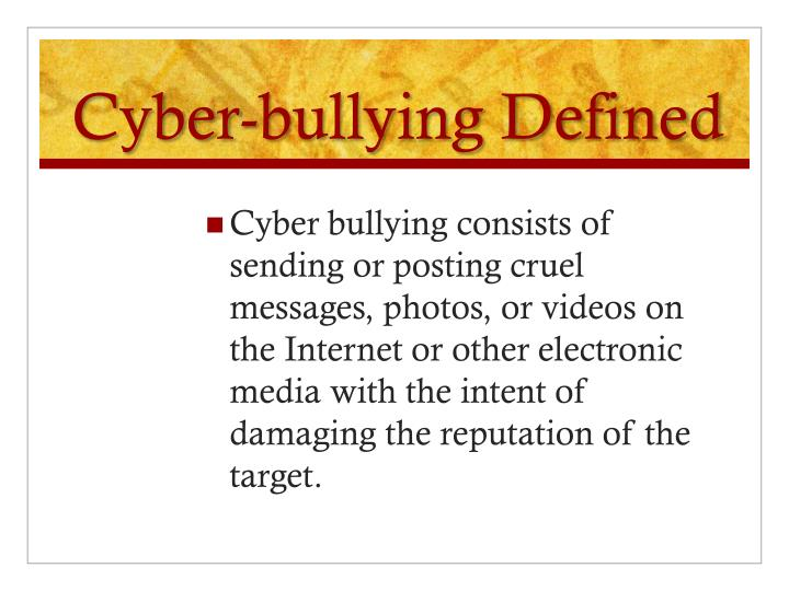 persuasive speeches on cyber bullying This content was stolen from brainmasscom - view the original, and get the already-completed solution here please help me develop an outline for a 5-7 minute persuasive speech on bullyinginclude enough information to help me develop ideas further and guide me through an introduction, transitions and a conclusion.