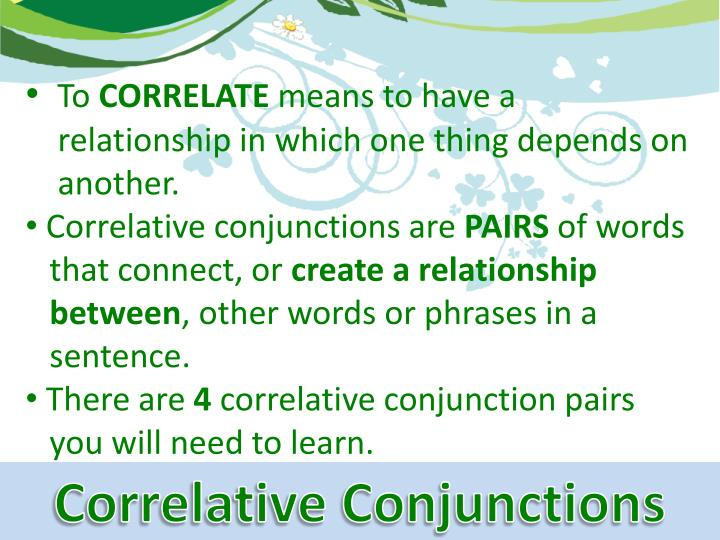 papers correlative conjunction Coordinating conjunctions connect parts of sentences to each other david explains how practice this yourself on khan academy right now: .