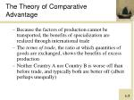 the theory of comparative advantage2