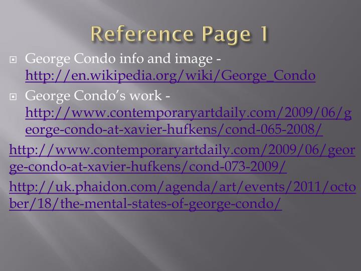 Reference Page 1