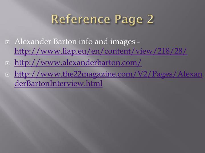 Reference Page 2