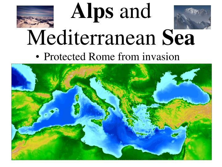 Alps and mediterranean sea