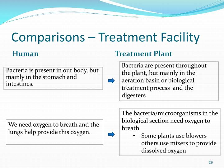 Comparisons – Treatment Facility
