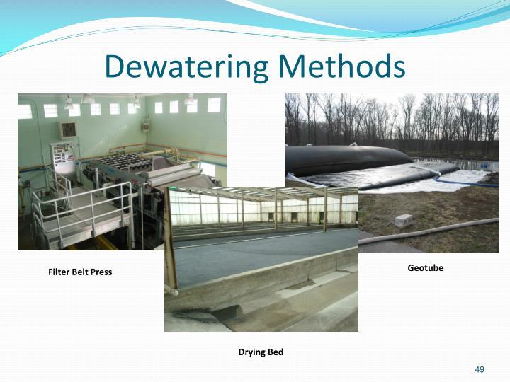 Dewatering Methods