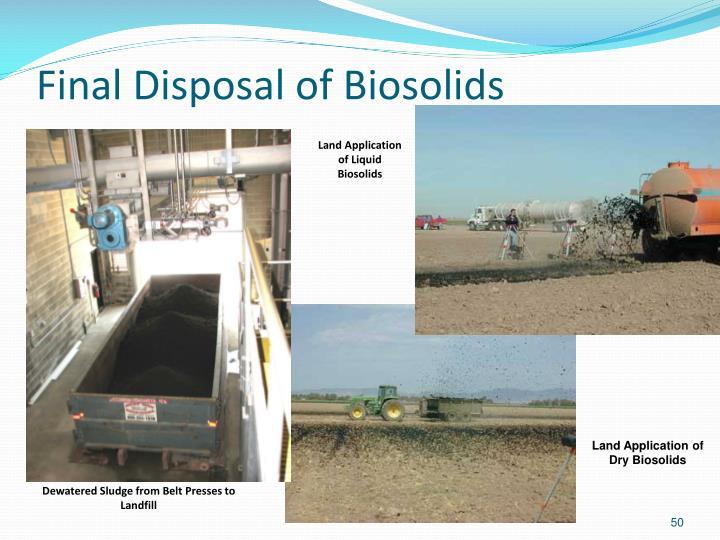 Final Disposal of Biosolids