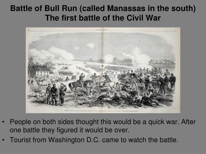 Battle of Bull Run (called