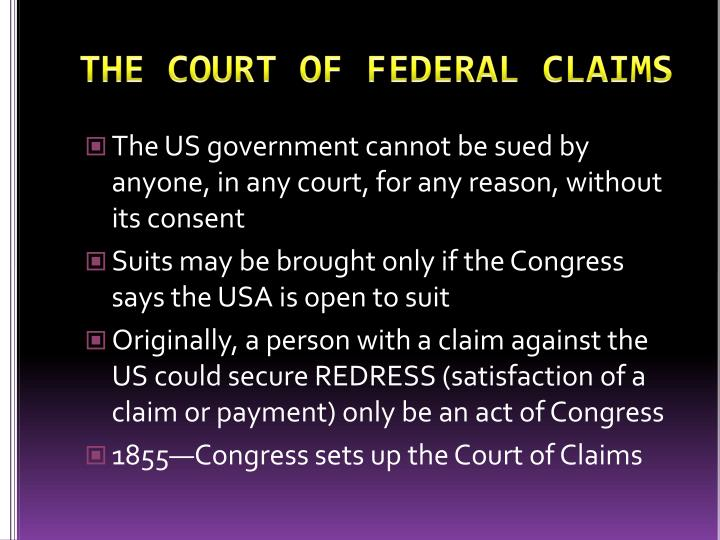 The court of federal claims