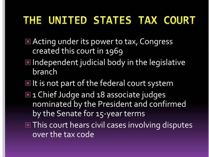 THE UNITED STATES TAX COURT