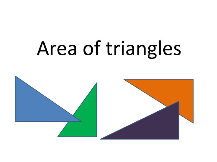 area of triangles n.