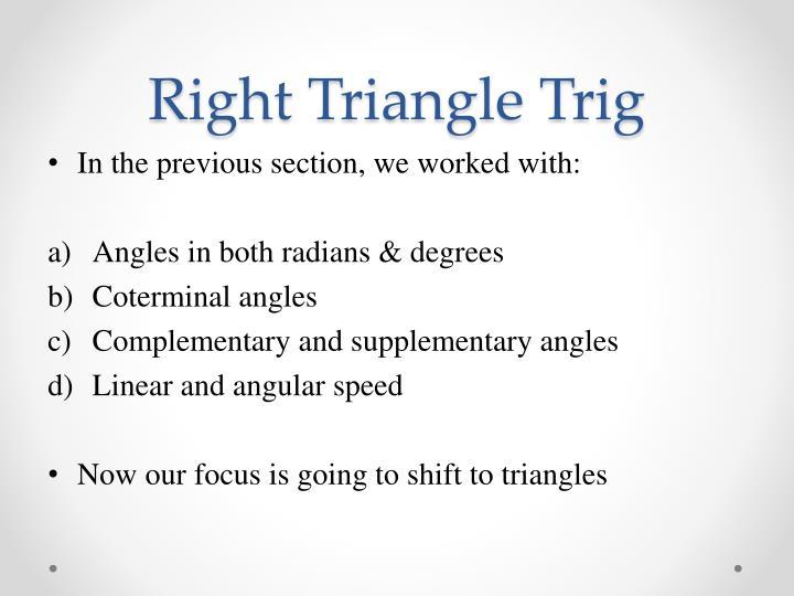 Right triangle trig1