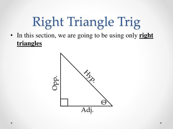 Right triangle trig2