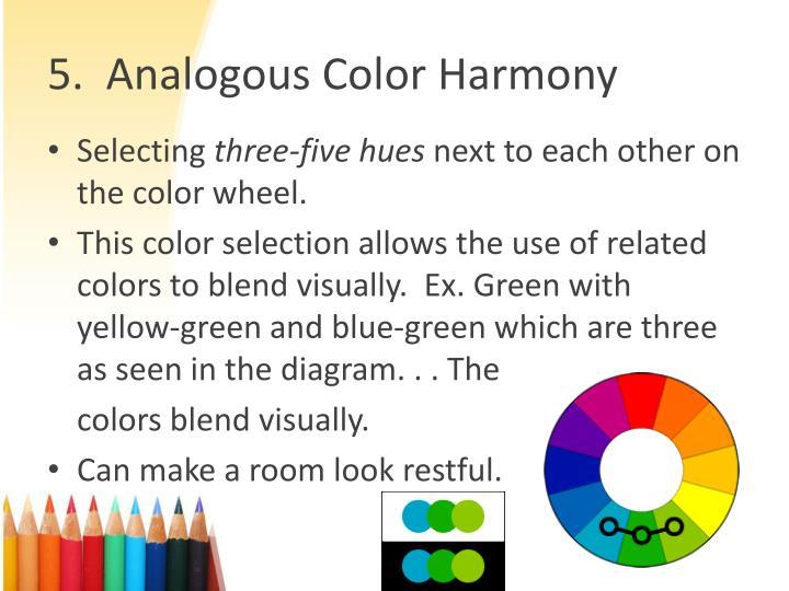 5 Analogous Color Harmony AnalogousColorHarmony