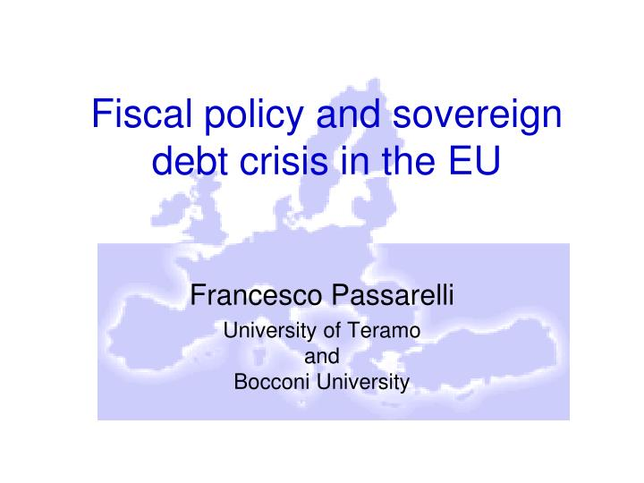 fiscal policy and sovereign debt crisis in the eu n.