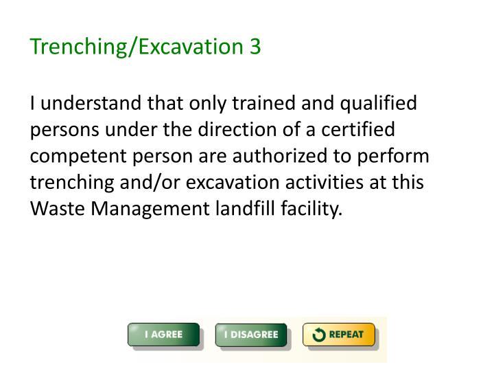 Trenching/Excavation 3