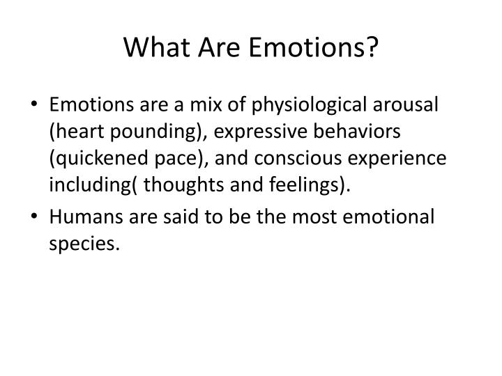 what are emotions