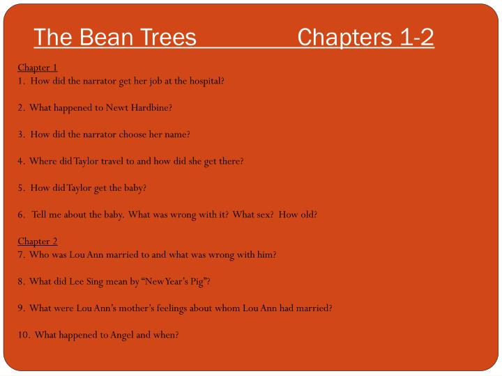 an analysis of the theme of imagination in the story the bean trees by barbara kingsolver Detailed explanations, analysis, and citation info for every important quote on litcharts  the bean trees barbara kingsolver the beautiful and damned f scott fitzgerald before i fall  barbara kingsolver popol vuh dennis tedlock a portrait of the artist as a young man james joyce pride and prejudice jane austen the prime of.