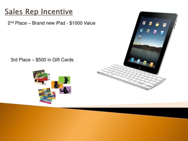 Sales Rep Incentive